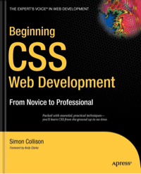 Beginning CSS book cover
