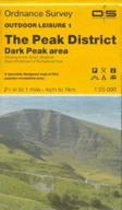 OS map of the Peak District