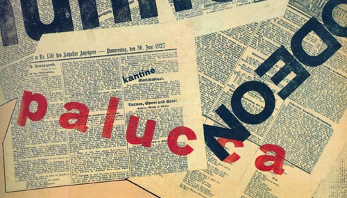 Bauhaus type collage