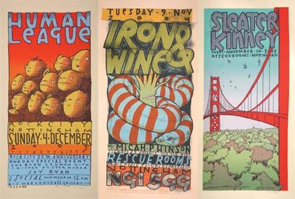 Bird machine Nottingham posters