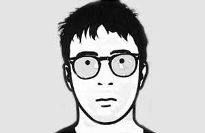 Julian Opie's portrait of Coxon