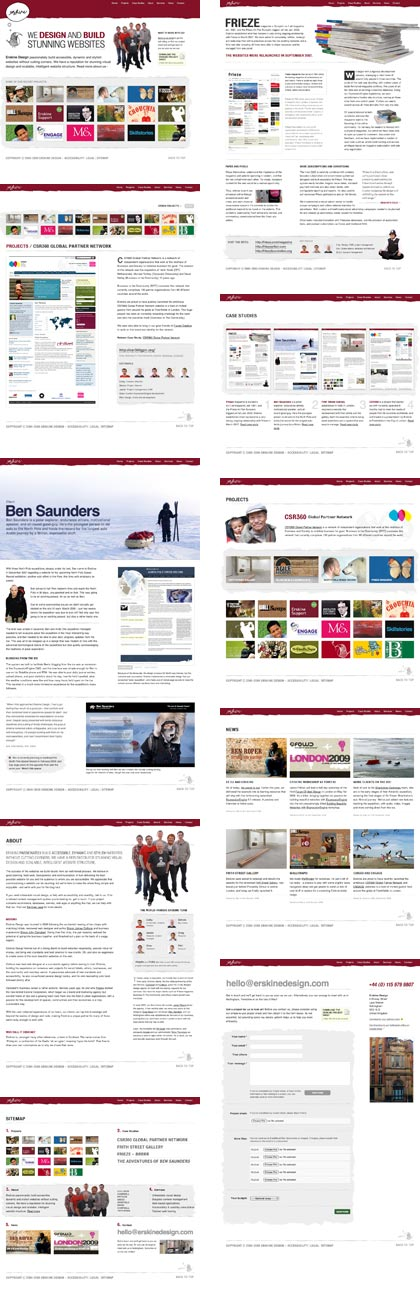 Erskine Design page layouts