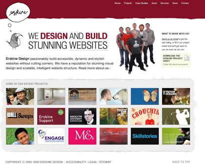 Erskine Design homepage