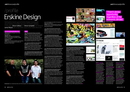 Erskine Design profile in net magazine