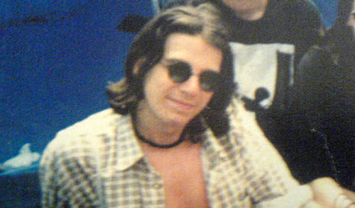 Simon Collison with long hair in 1995