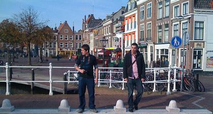 Jamie and Glen in Leiden
