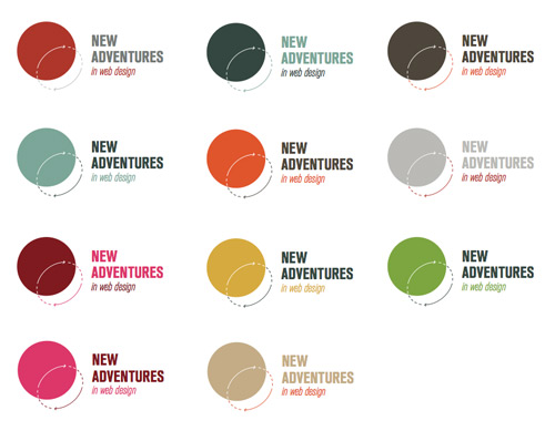 New Adventures logo variants