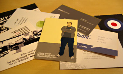 Assorted business cards
