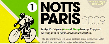 Notts to Paris 2009
