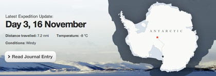 Shackleton expedition banner