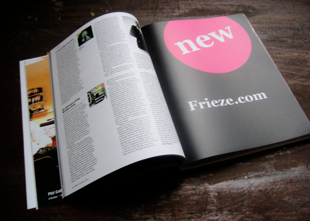Announcing the new site in the printed magazine