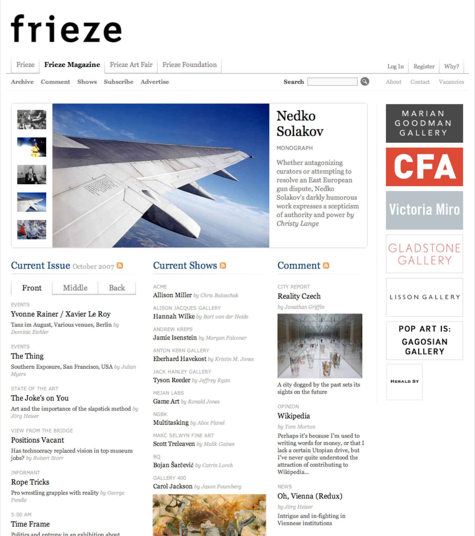 The relaunched Frieze magazine
