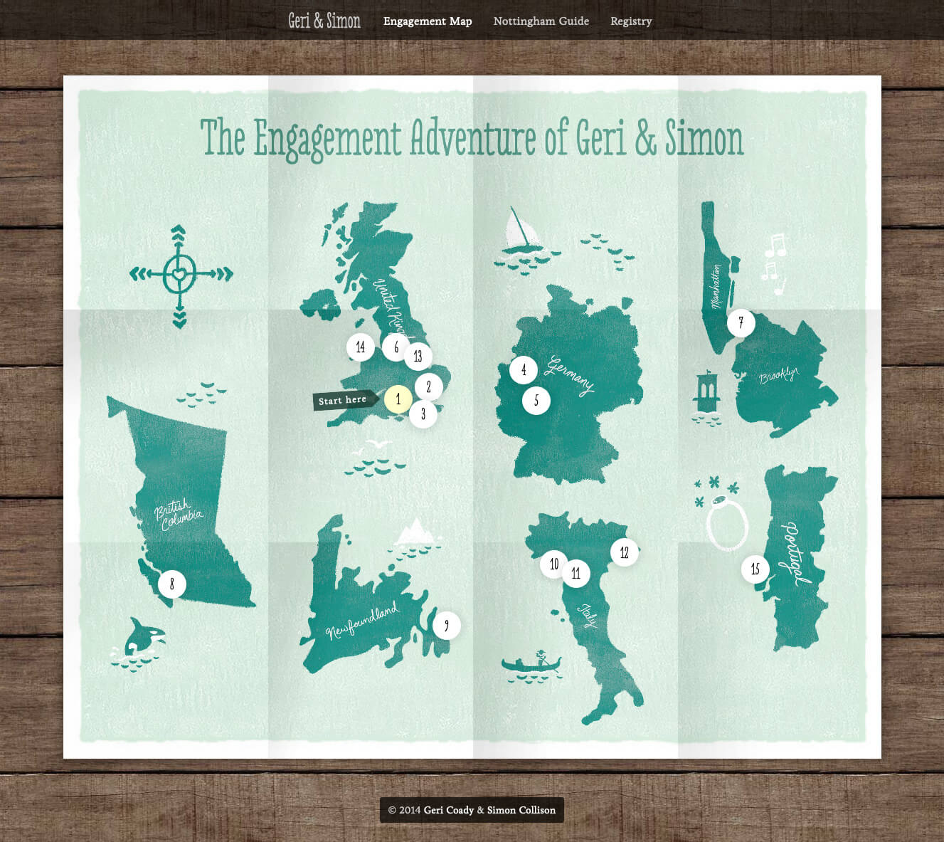 Web interactive responsive engagement map