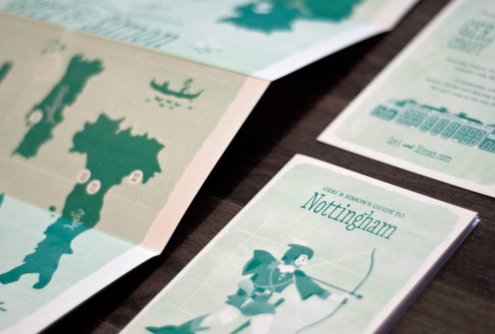 Detail of the printed invitation material