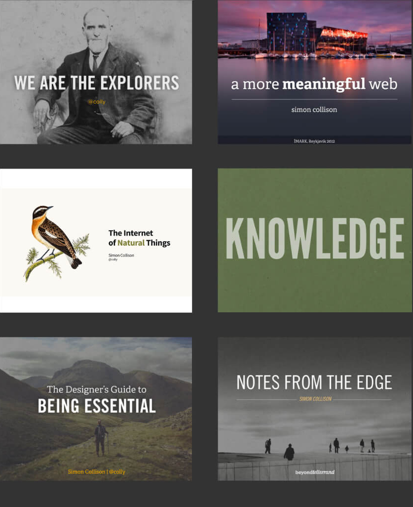 Presentation cover examples